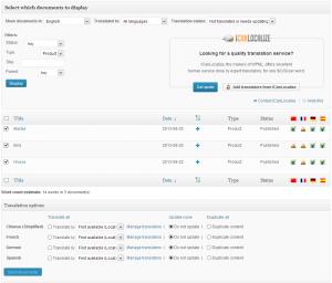 WooCommerce Multilingual 3.1 translation dashboard