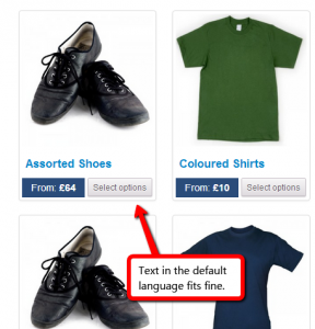 CSS optimized for short text in English