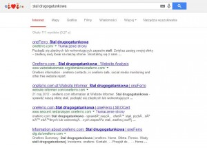 oneFerro in Google' results