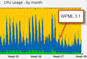 Server load went to 50% after we moved to WPML 3.1