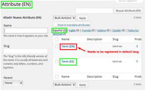 Adding global attributes in WooCommerce admin