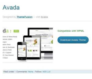 The Avada, a WPML compatible theme