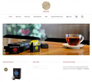 www.ceremonietea.co.il: a multilingual site with WooCommerce stor