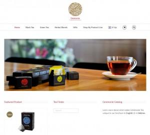 www.ceremonietea.co.il: a multilingual site with WooCommerce stor