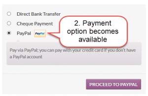 Payment options update