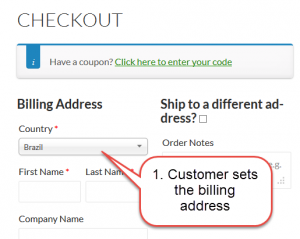 Set the billing address