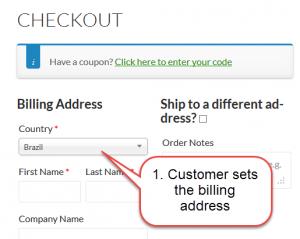 Set the billing address