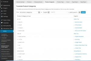 WooCommerce Mulitilingual plugin in ceremonietea.co.li site