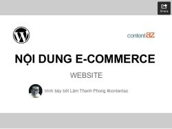 The content for an e-commerce site
