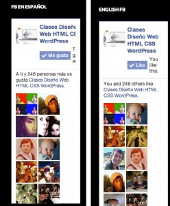 Facebook like box and WPML