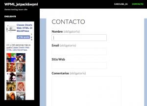 JetPack Contact Form & WPML