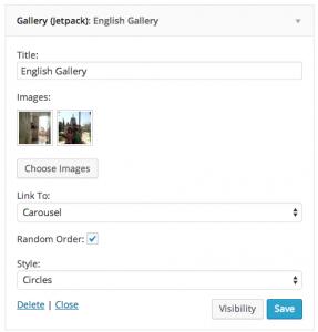 JetPack widget gallery and WPML