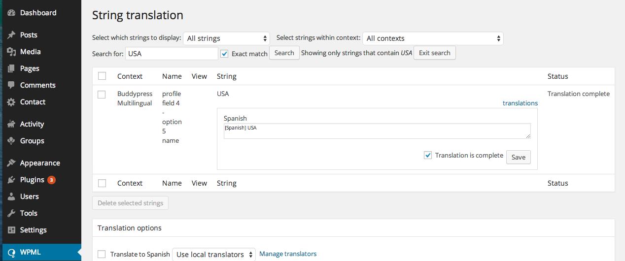 BuddyPress Multilingual - WPML