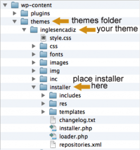 WPML installer in theme root