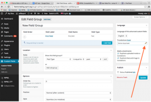Editing ACF Field Groups