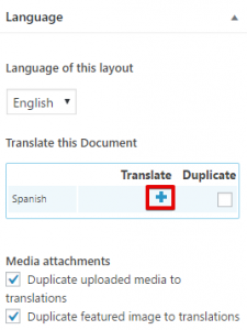 Add translation to the layout
