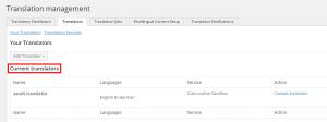 Lista de traductores seleccionados