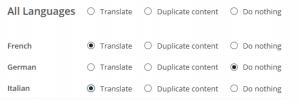 בחר את השפות שאליהן אתה רוצה לתרגם את התוכן