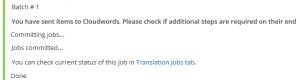 Los documentos han sido enviados a traducir