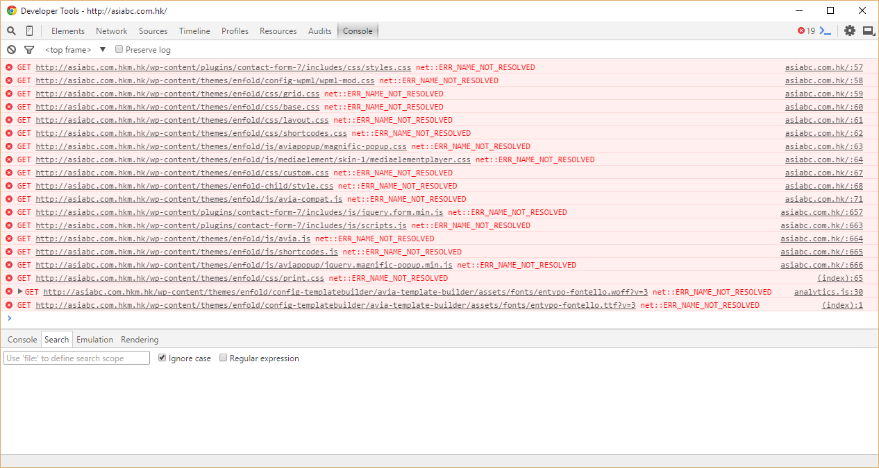 wrong url for css js files in the domain of 2nd language wpml