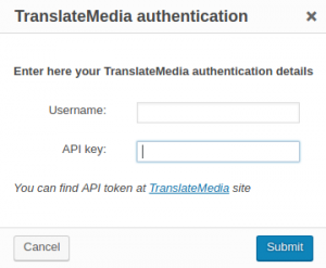 Authentication popup
