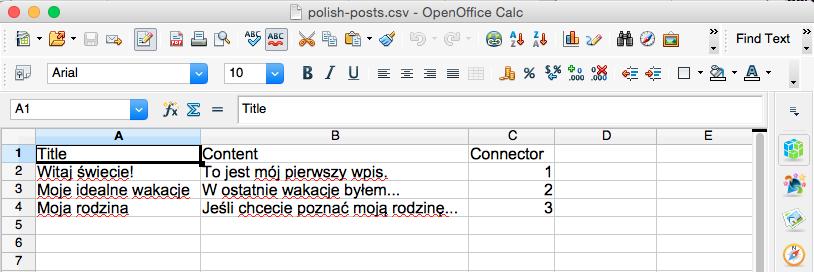 Polish posts csv
