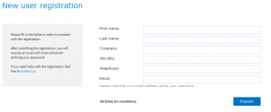 Formulario de registro de TranslateMedia