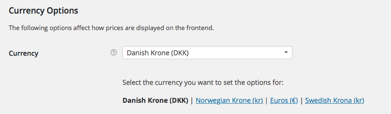 Currency Shows Kr I Need To Change That To Nok And Sek Wpml
