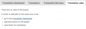 Canceled jobs are removed from the Translation Jobs tab