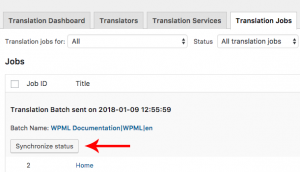 Checking for completed translation jobs