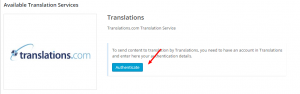 Authentifizierung von Translations.com