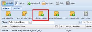 Modification d'un nouvel envoi depuis l'interface Director de GlobalLink