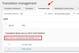 Progression des travaux de traduction