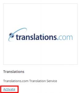 Attivare Translations.com
