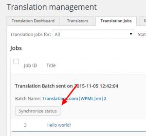 Vérification des travaux de traduction achevés