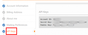 Account API Keys