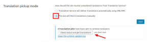 Manual translation pick up mode