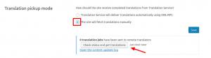 Manual translation pick up mode