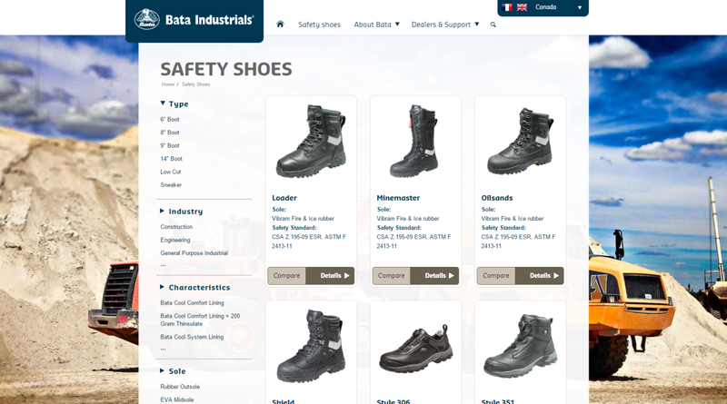 The Bata Industrials website is developed as a child theme based on Enfold