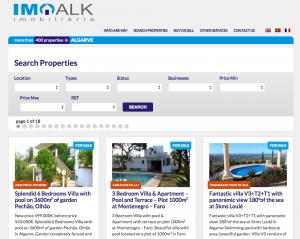 Motor de búsquedas de imoalk.com construido por Antonio sin código PHP.
