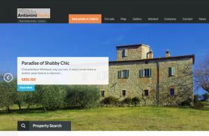 Slider con le proprietà su antonini-realty.com