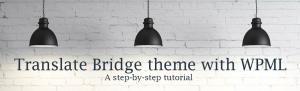 Translate Bridge theme with WPML