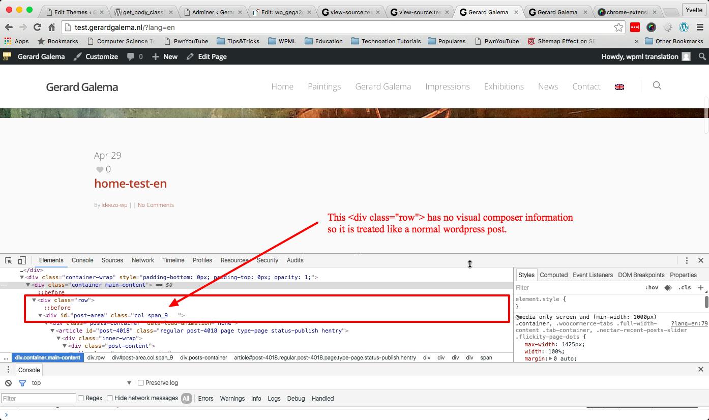 Homepage shows blog - WPML