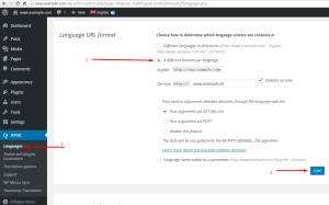 Different domains per language are setup on the WPML -> Languages page.