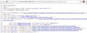 Page source with hreflang links
