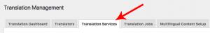 Translation Services Tab