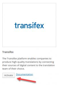 Активация Transifex