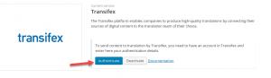 Авторизация Transifex