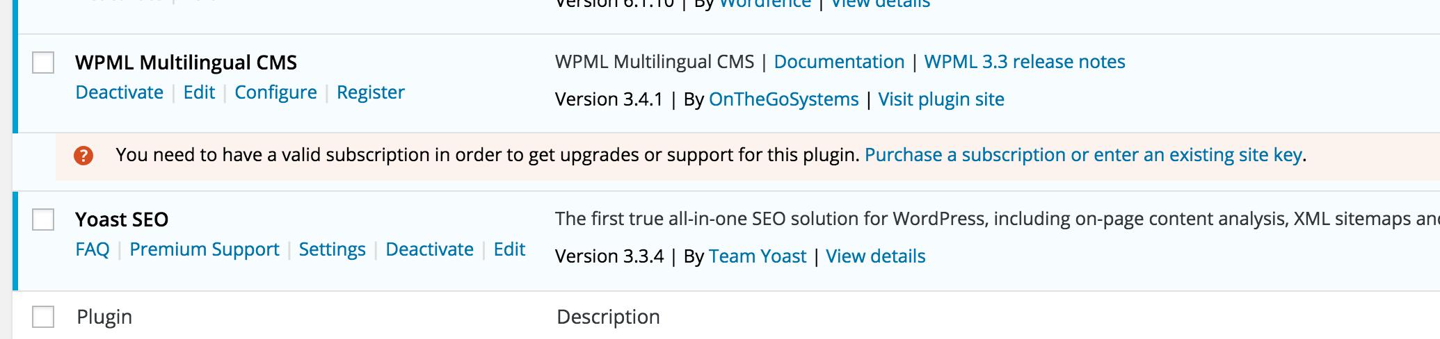 when activating wpml fatal error uncaught error clone method