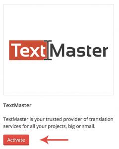 Активация TextMaster